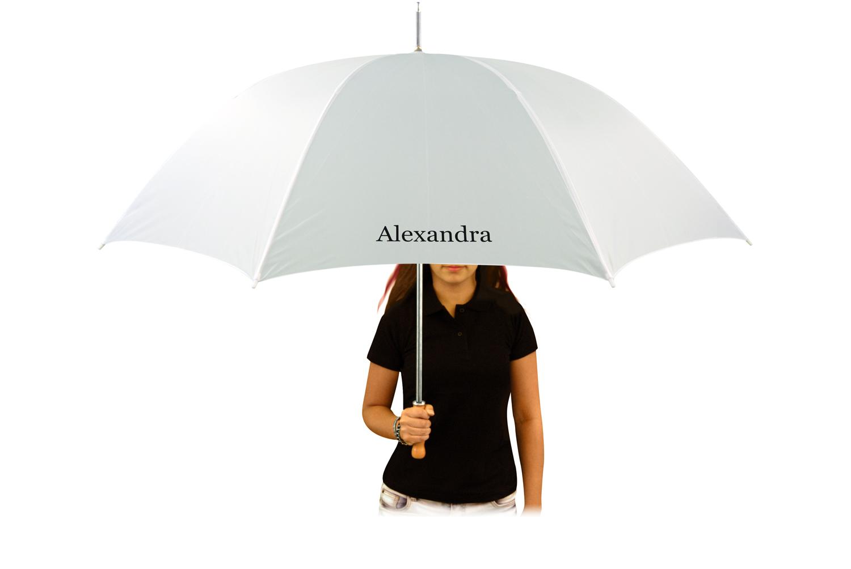 Regenschirm mit Vorname